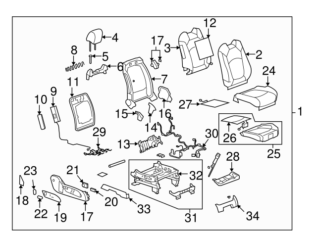 adjuster switch gm 15259065 gmpartsdirect 2014 Buick Encore Color Chart