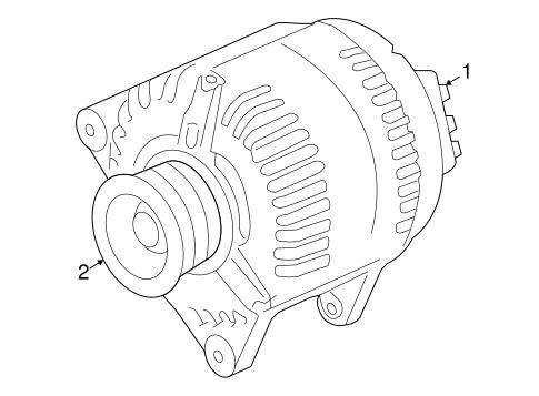oem 2008 saturn astra alternator parts