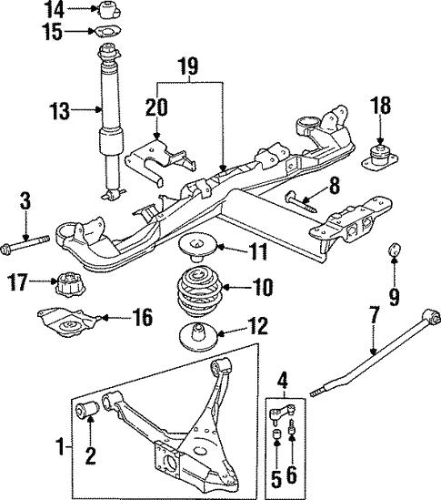 Rear Suspension For 1998 Oldsmobile Aurora