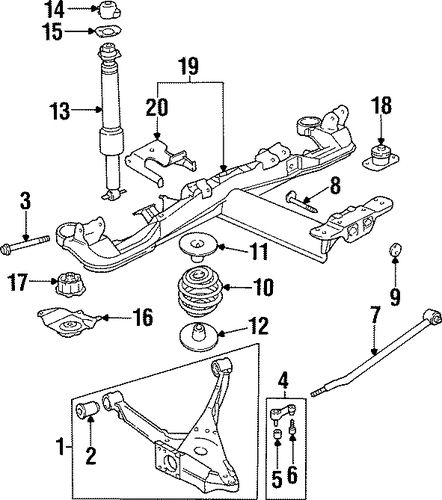 oem 1999 oldsmobile aurora rear suspension parts