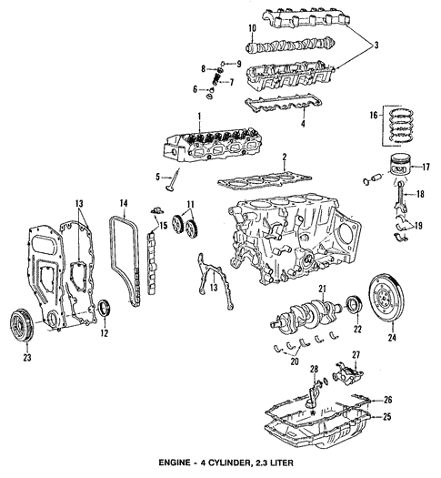 Engine Parts for 1991 Pontiac Grand Prix #0