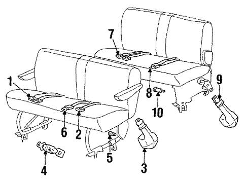Rear Seat Belts For 1989 Dodge Grand Caravan Parts