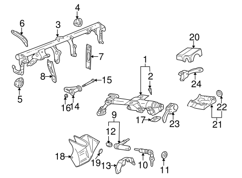 Steering Column Assembly for 2000 Volkswagen Golf #0