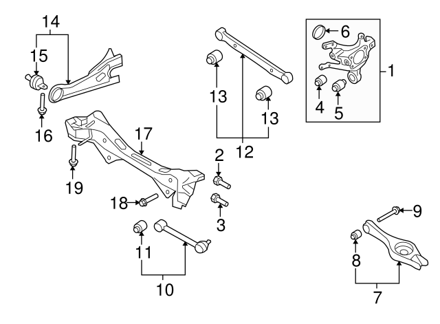 2008 hyundai elantra engine diagram 2007 2011 hyundai elantra susp crossmember bolt mates w nut  right  2007 2011 hyundai elantra susp