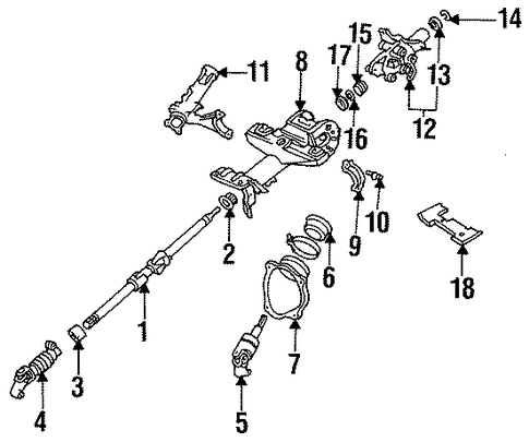 STEERING/SHAFT & INTERNAL COMPONENTS for 1996 Toyota Celica #2