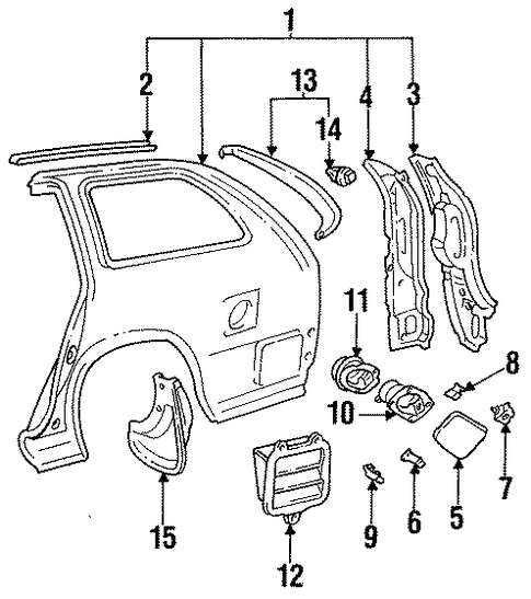 BODY/QUARTER PANEL & COMPONENTS for 1997 Toyota Corolla #1