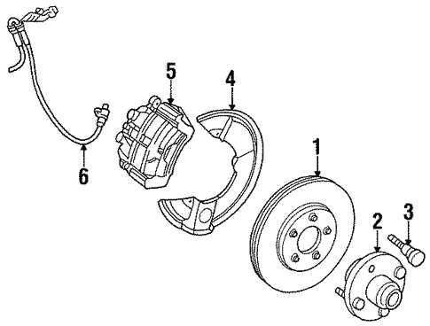 Front Brakes For 1997 Mercury Sable
