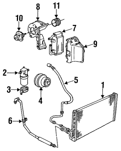 Oem 1990 Chevrolet S10 Blazer Condenser Compressor