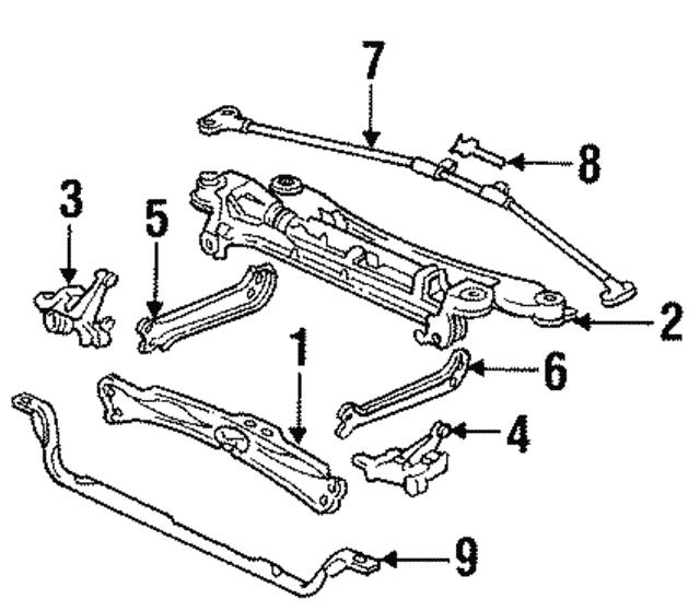 1993 1995 acura legend sedan bracket set l front beam 51011 sp0 020 L Beam Trim bracket set l front beam acura 51011 sp0 020