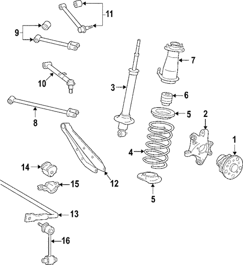 Rear Suspension for 2007 Lexus IS250 #2