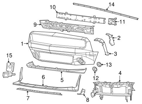 68259514AC Dodge CHRYSLER OEM Challenger Front Bumper-Extension Panel Right