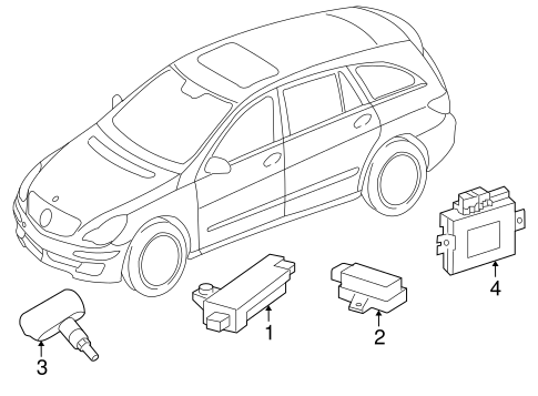 Tire Pressure Monitor Components For 2008 Mercedes Benz R 320