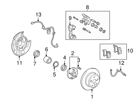Brake Components for 2005 Toyota Highlander #0