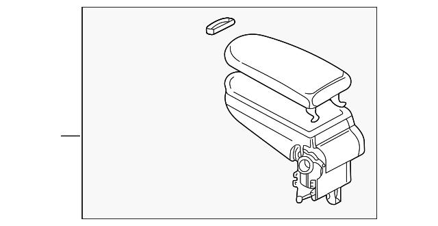 armrest assembly - volkswagen (3b0-864-209-r-kwq)
