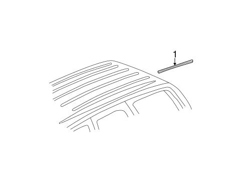 bodyexterior trim roof for 2003 chevrolet tahoe 1