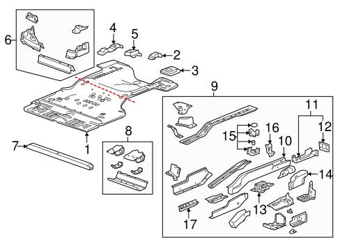 rear floor rails parts for 2012 cadillac srx. Black Bedroom Furniture Sets. Home Design Ideas