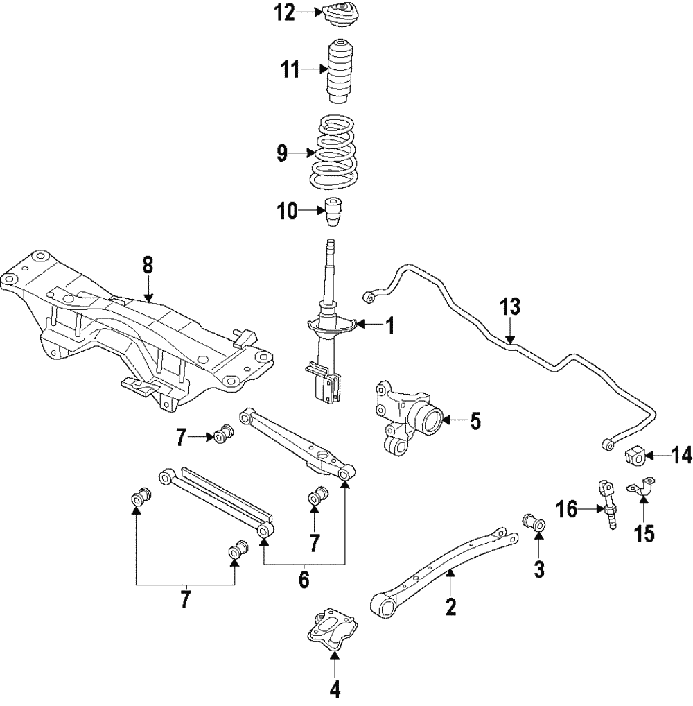 SUBARU OEM 00-09 Outback Rear-Lateral Link 20250AE01A