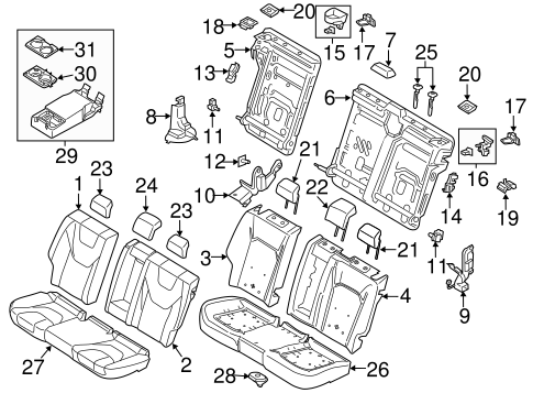 Rear Seat Components For 2013 Ford Fusion