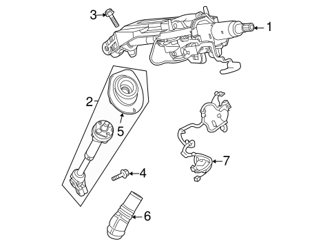 Oem 2008 Gmc Acadia Steering Column Assembly Parts