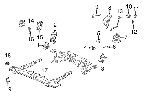 Stay, Rear Engine Bracket