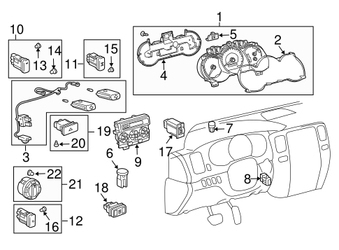 Controls for 2003 Toyota 4Runner #0