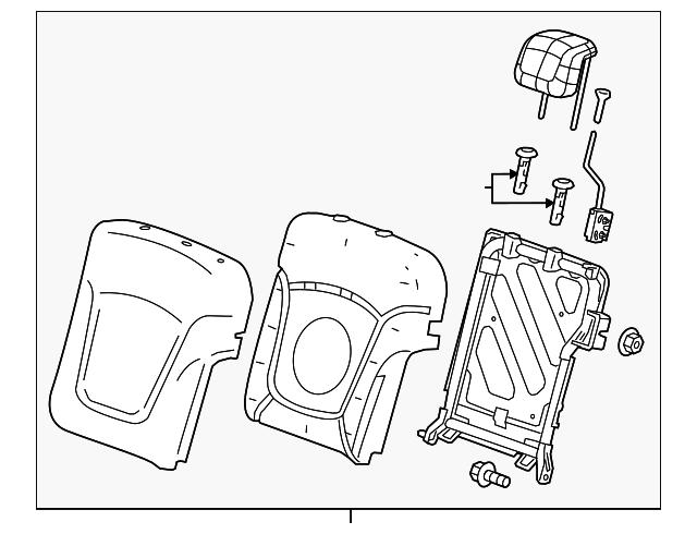 2016 2018 Chevrolet Spark Seat Back Assembly 42439743