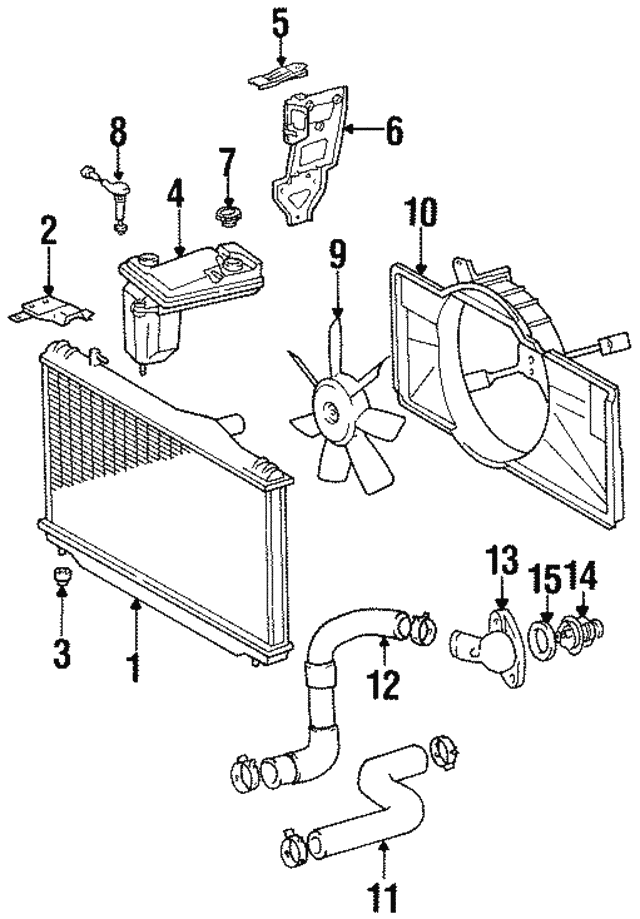 Radiator Assembly Support Lexus 9048040012: 1997 Lexus Sc300 Engine Diagram At Hrqsolutions.co