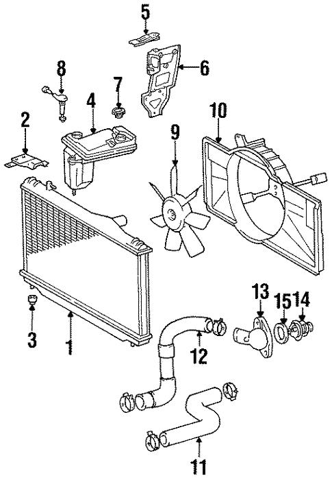 radiator  u0026 components for 1996 lexus sc400