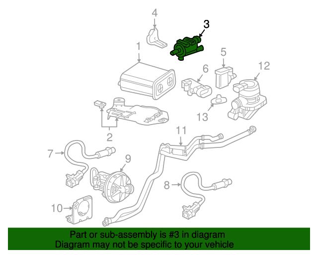 2007-2013 Chevrolet Silverado Evap Emission Canister Purge Valve Solenoid  OEM