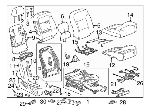 Passenger Seat Components for 2018 GMC Sierra 1500 #3