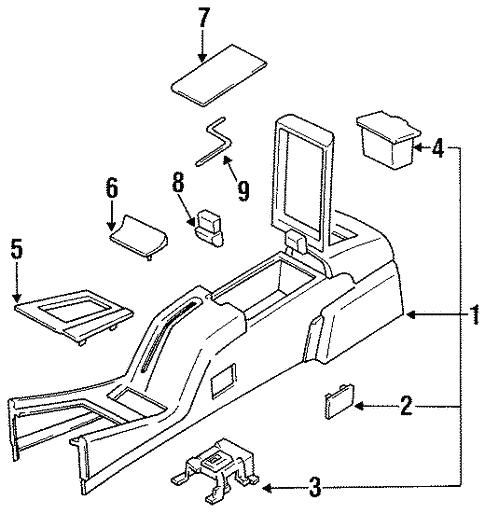 Center Console For 1994 Subaru Svx