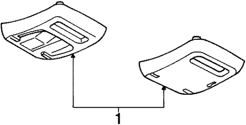 Body/Overhead Console for 1997 Ford Contour #1