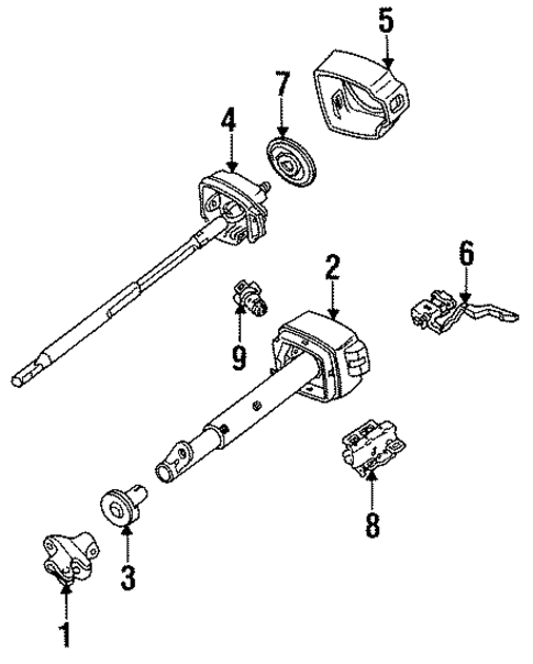 oem 1989 chevrolet corsica steering column assembly parts