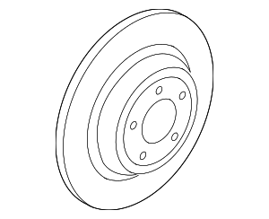 Disc Brake Rotor - Ford (KS7Z-2C026-A)