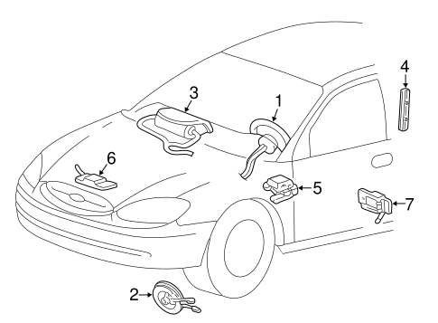 Electrical/Air Bag Components for 2001 Ford Taurus #1