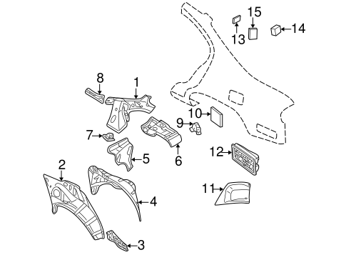 Inner Structure for 2003 Nissan Maxima #0