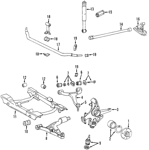 Front suspension for 2002 mercedes benz ml 500 mb parts for Mercedes benz ml500 parts