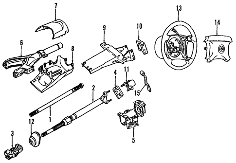 Steering Column for 1993 BMW 525iT #0