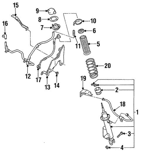 Shocks Suspension Components For 1994 Infiniti Q45