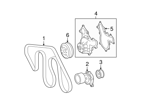 COOLING SYSTEM/BELTS & PULLEYS for 2008 Toyota Tundra #1