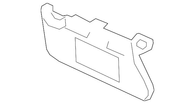 Genuine Nissan 96401-3TA2A Sun Visor Assembly