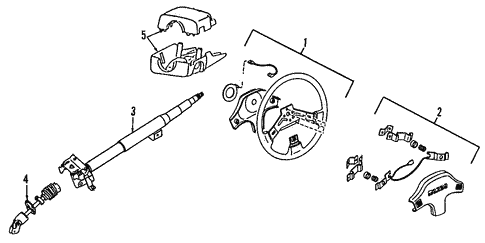 Steering Column for 1997 Mazda Protege #0