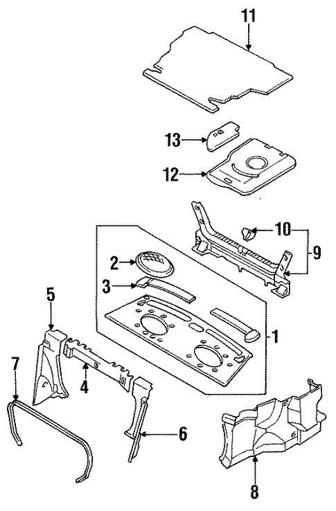 Interior Trim - Rear Body for 1997 Mazda Protege #0