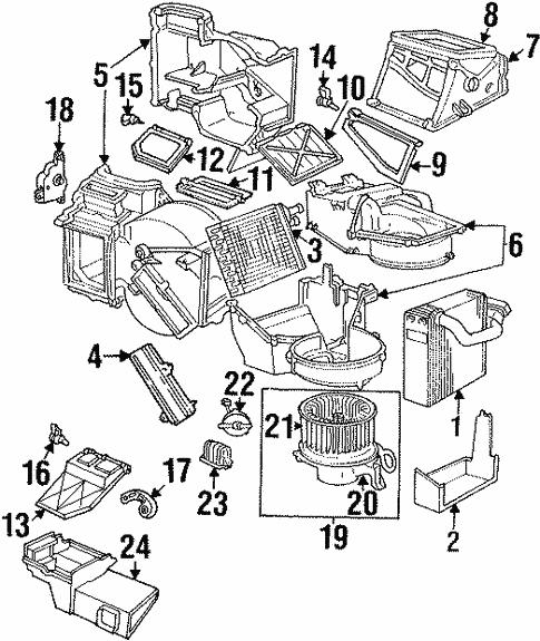 Blower Motor Fan For 1999 Dodge Stratus