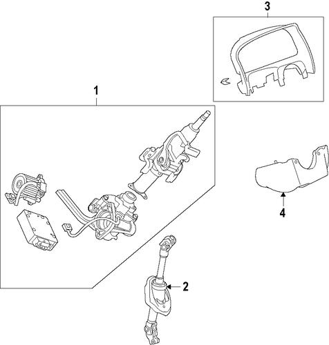 oem 2009 saturn vue steering wheel parts