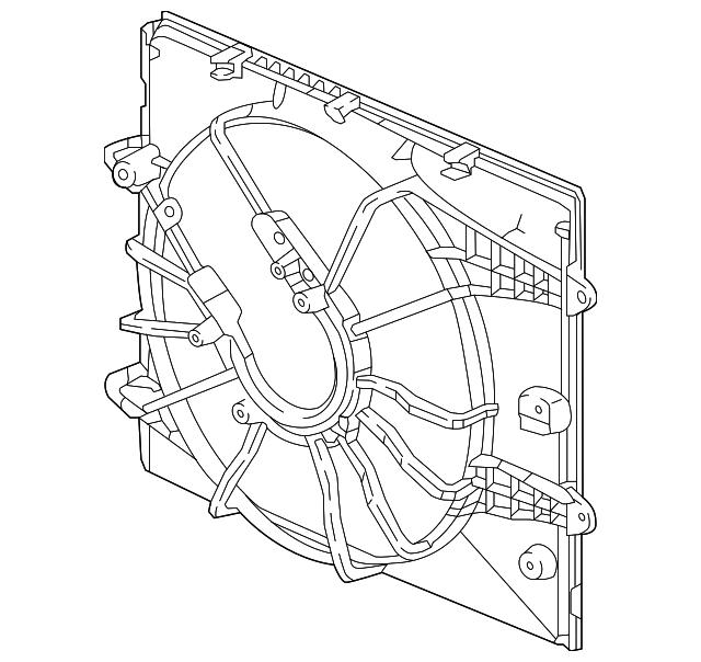 Genuine Honda Shroud 19015-5BA-A01