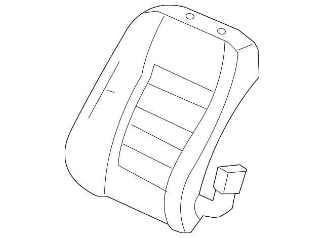 Right Front Honda Genuine 81131-SH1-A32ZE Seat Cushion Trim Cover