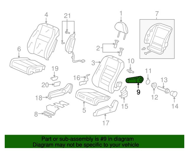 Honda Genuine 81180-SXT-A22ZA Seat Armrest Assembly Front Right
