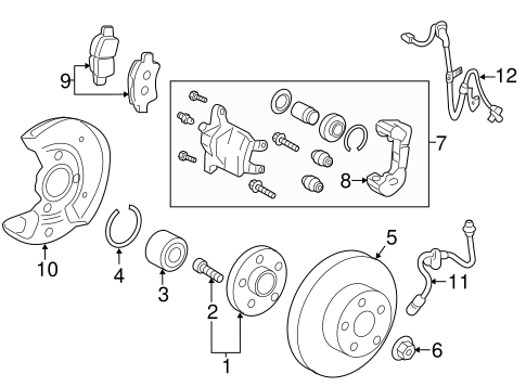 BRAKES/FRONT BRAKES for 2015 Scion iQ #1