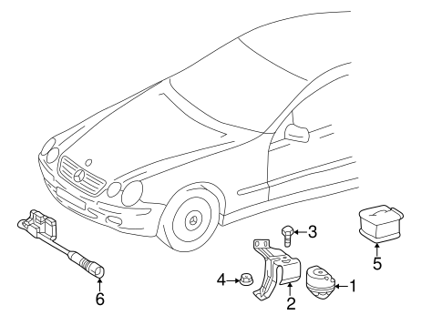 Anti-Theft Components for 2003 Mercedes-Benz CL 500 #0